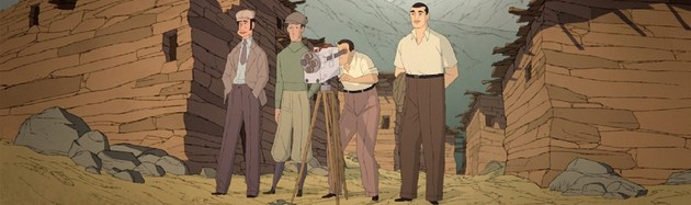 Buñuel in the Labyrinth of the Turtles - by Salvador Simó - Salvador Simó adapts Fermín Solís' comic book of the same name into a film, adding colour as well as images from Land Without Bread, the documentary directed by Luis Buñuel in 1933